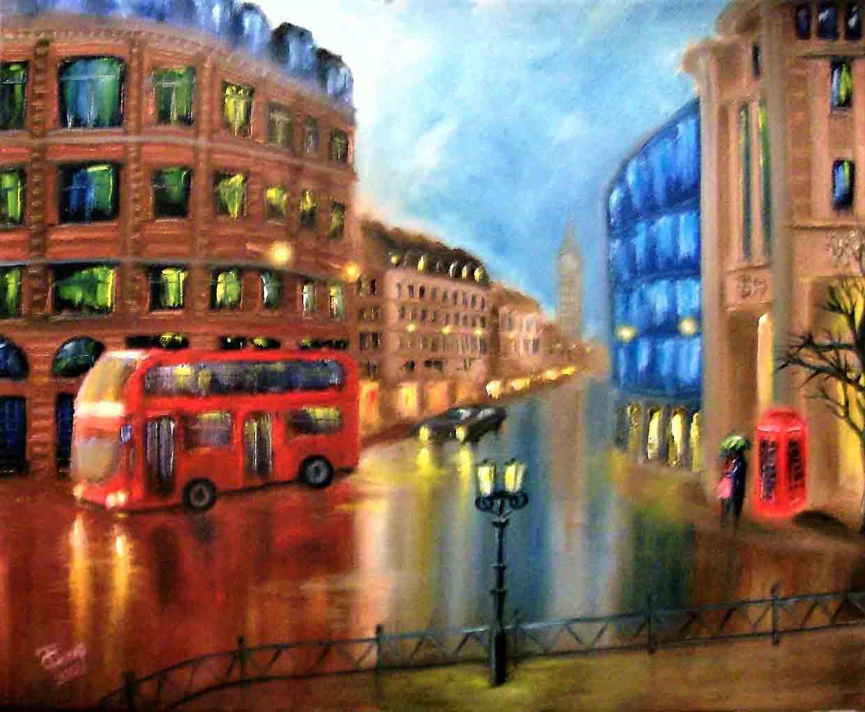 Картина Дождливый Лондон - автор Скляр Татьяна