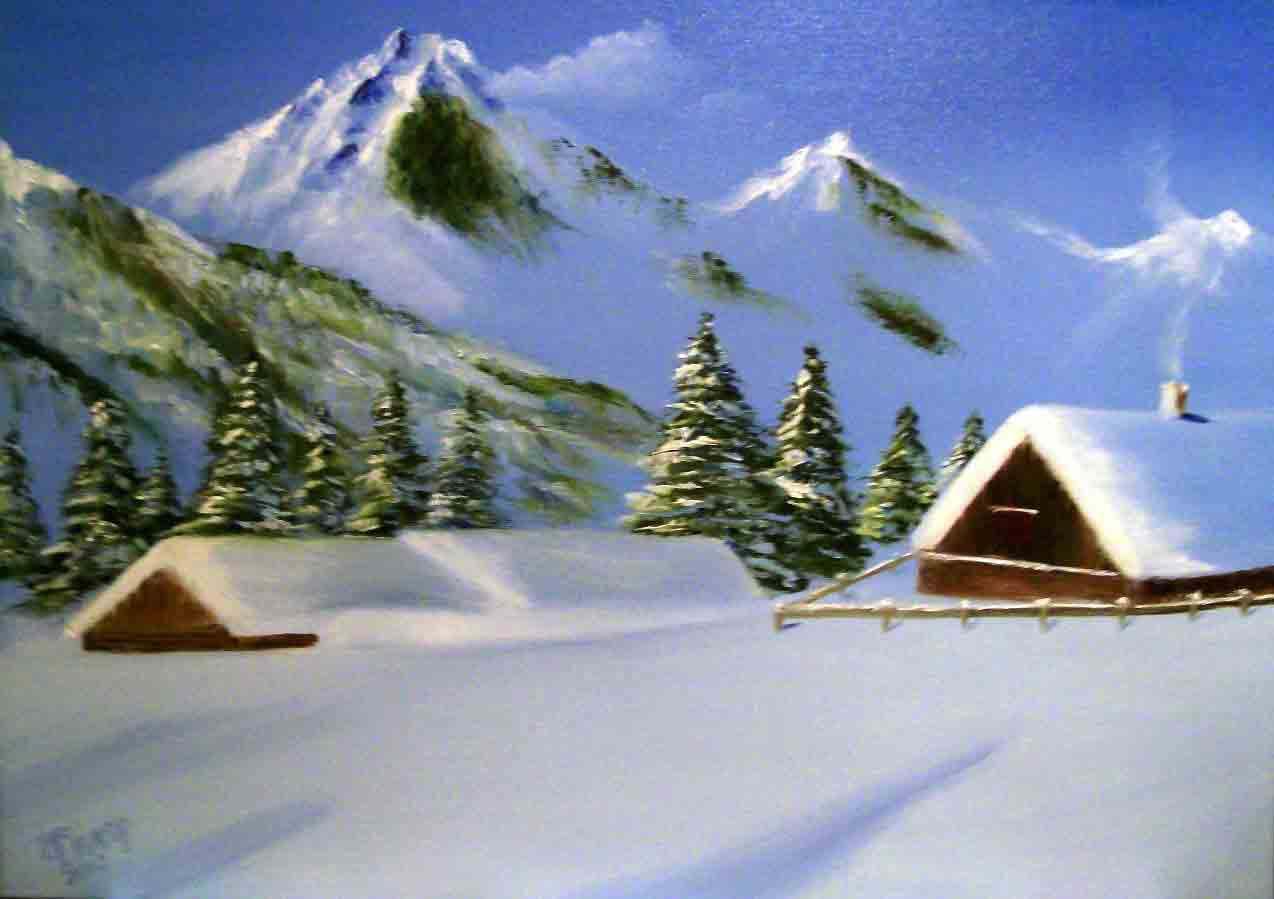 Картина Зимний пейзаж - автор Скляр Татьяна