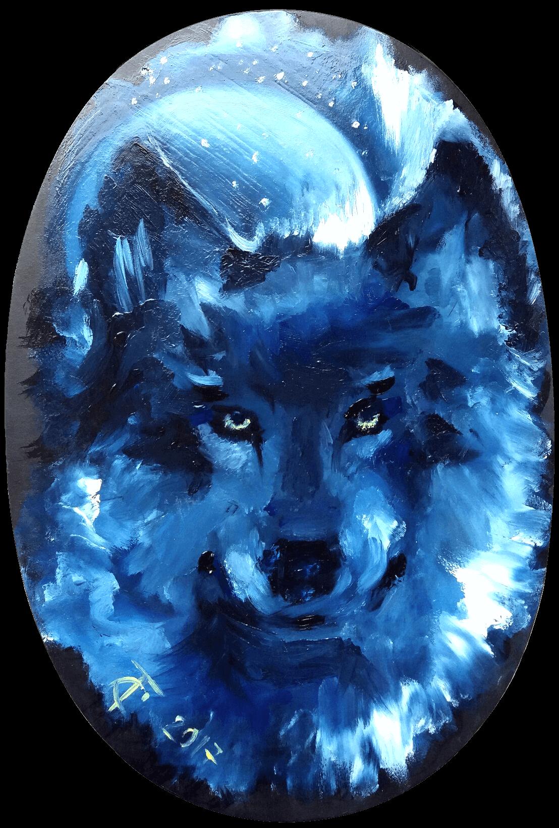 Картина Волк вторжение - автор Скляр Татьяна