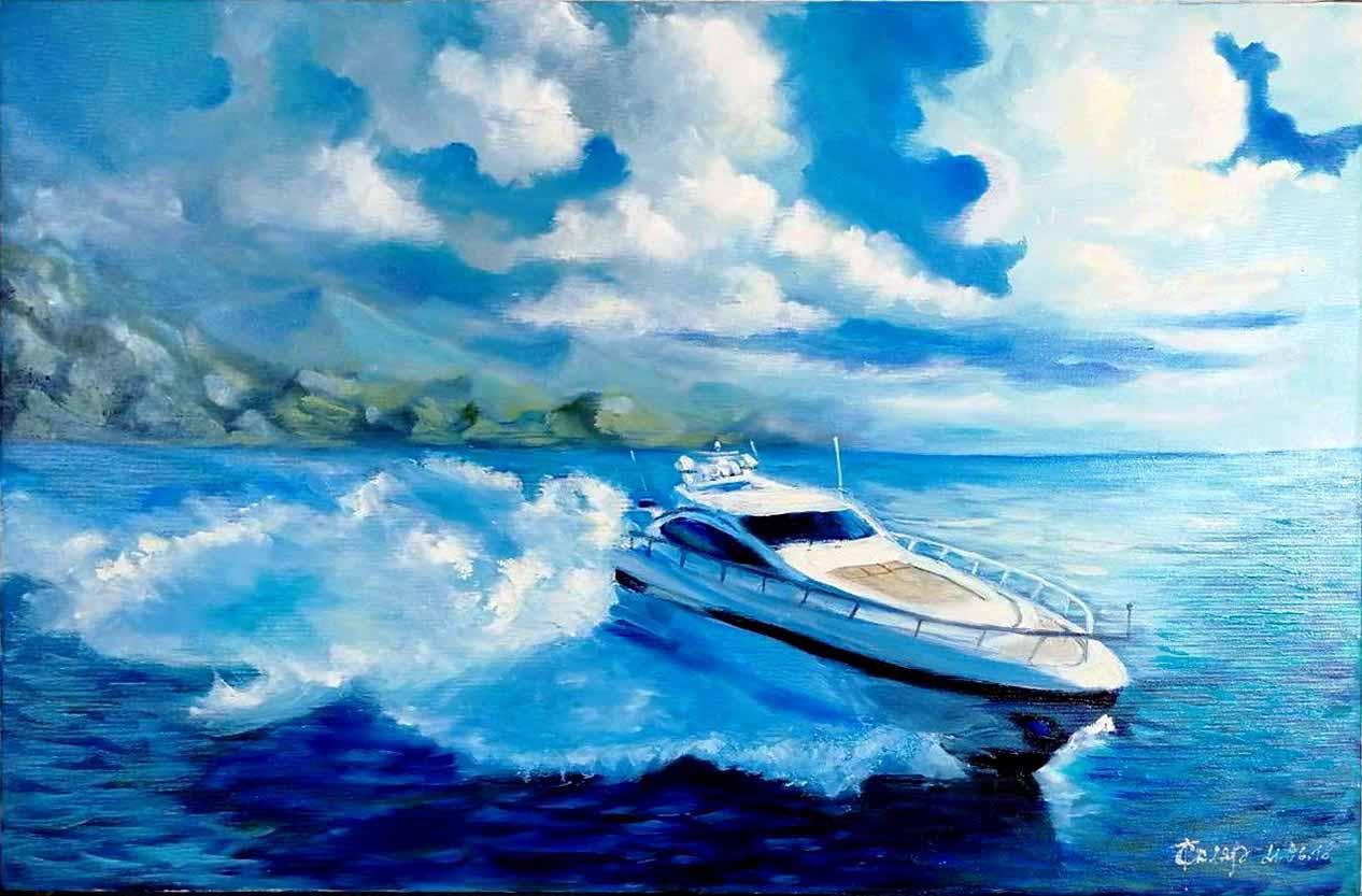 Картина Яхта - автор Скляр Татьяна