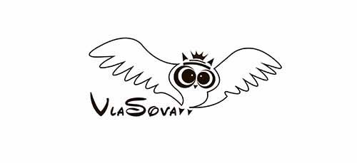 Логотип Vlasova, Скляр Татьяна дизайнер