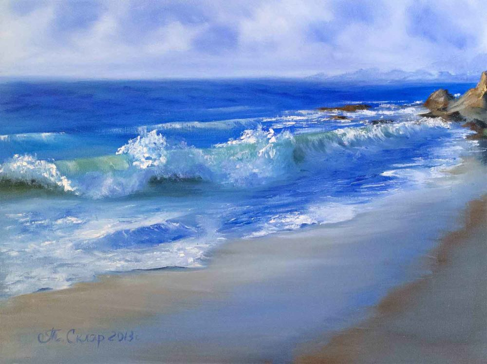 Морской пейзаж, Море, берег