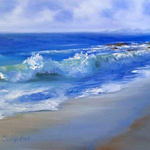 Купить картину маслом для интерьера_Морской пейзаж, Море, берег