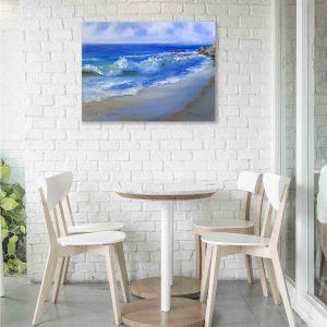 Купить картину маслом для интерьера_картина, кухня, кафе