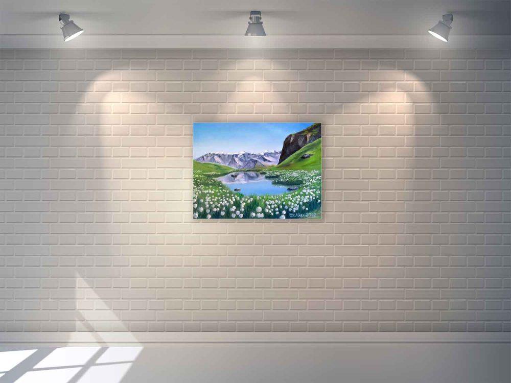 Картина маслом на стене