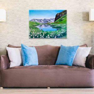Купить картину маслом для интерьера_Картина в комнате