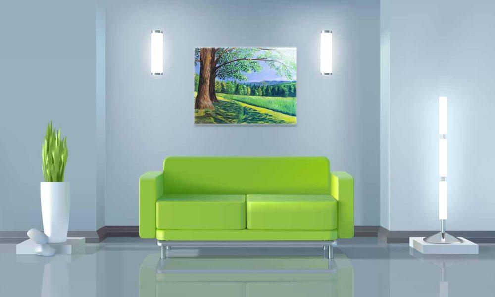Купить картину маслом для интерьера_Картина в интерьере