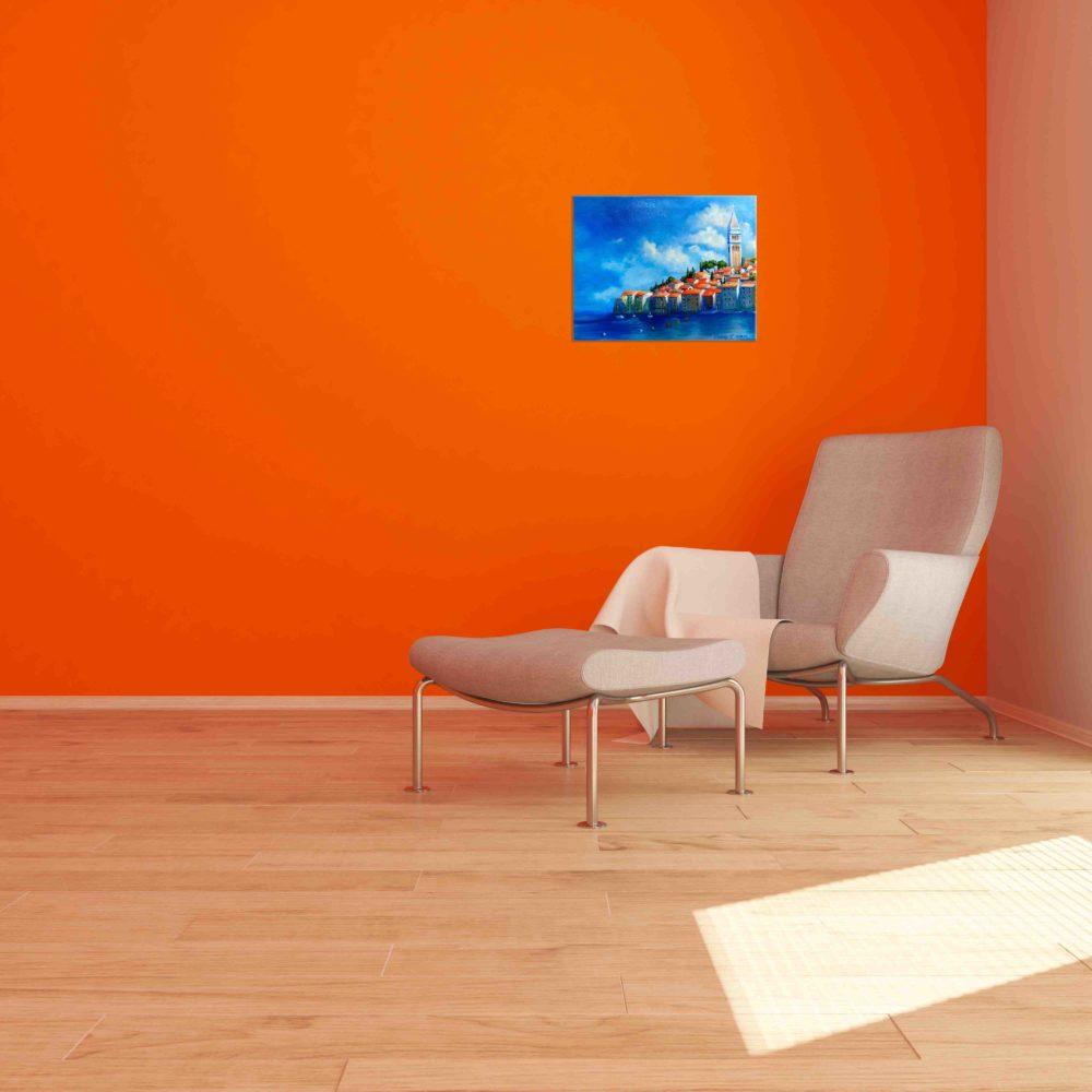 Купить картину маслом для интерьера_Пейзаж в современном интерьере