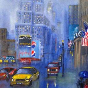 Дождливый вечер в Нью-Йорке картина