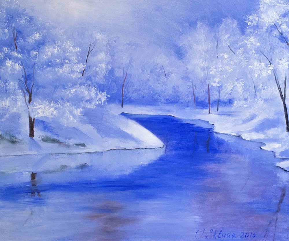 Зимушка-зима_ купить картину маслом